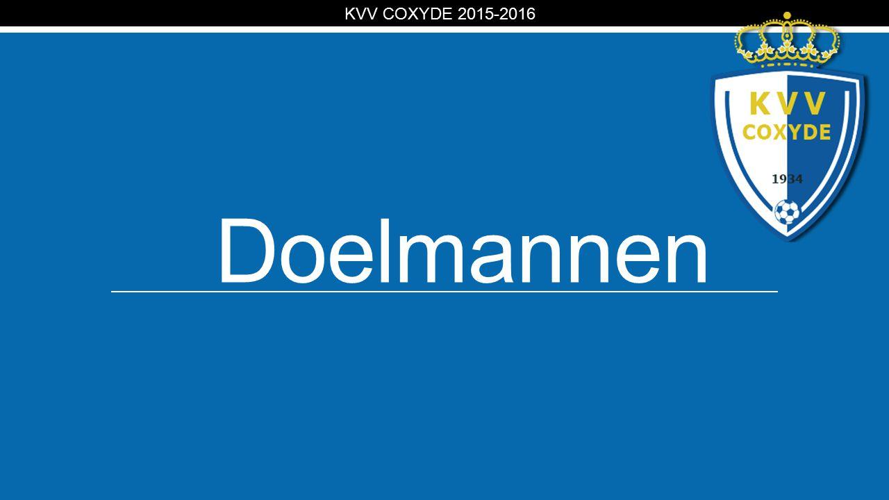 KV Doelmannen KVV COXYDE 2015-2016