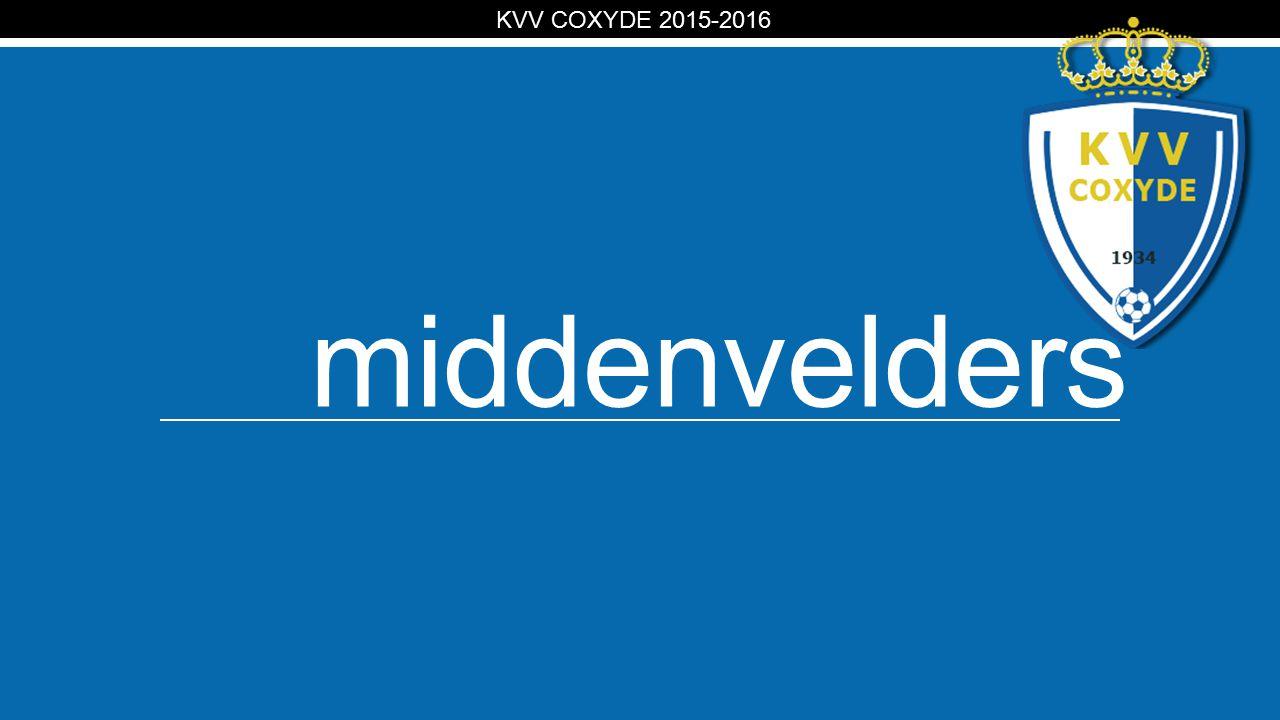 KV middenvelders KVV COXYDE 2015-2016