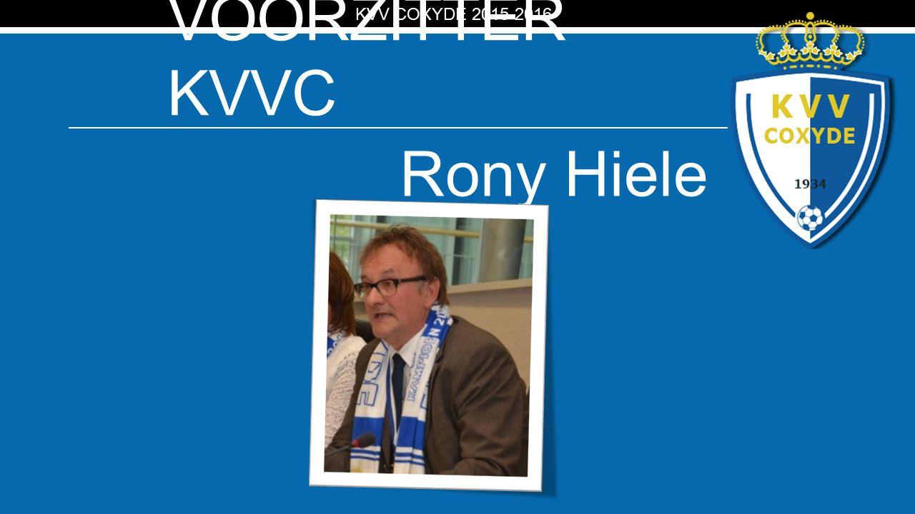 KV VOORZITTER KVVC Rony Hiele KVV COXYDE 2015-2016