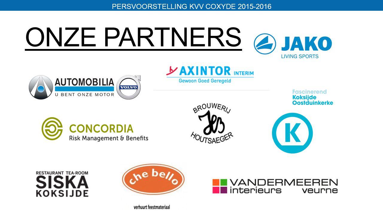 ONZE PARTNERS PERSVOORSTELLING KVV COXYDE 2015-2016