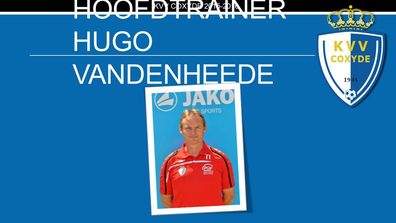 KV HOOFDTRAINER HUGO VANDENHEEDE KVV COXYDE 2015-2016
