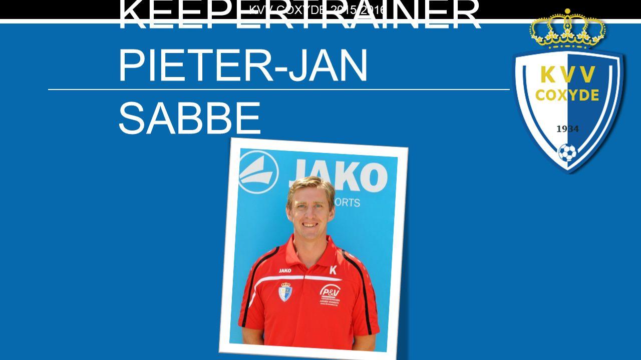 KV KEEPERTRAINER PIETER-JAN SABBE KVV COXYDE 2015-2016