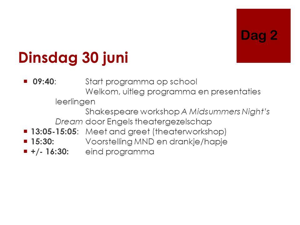 Woensdag 1 juli Amsterdam  08:00: Verzamelen Huis Doorn.