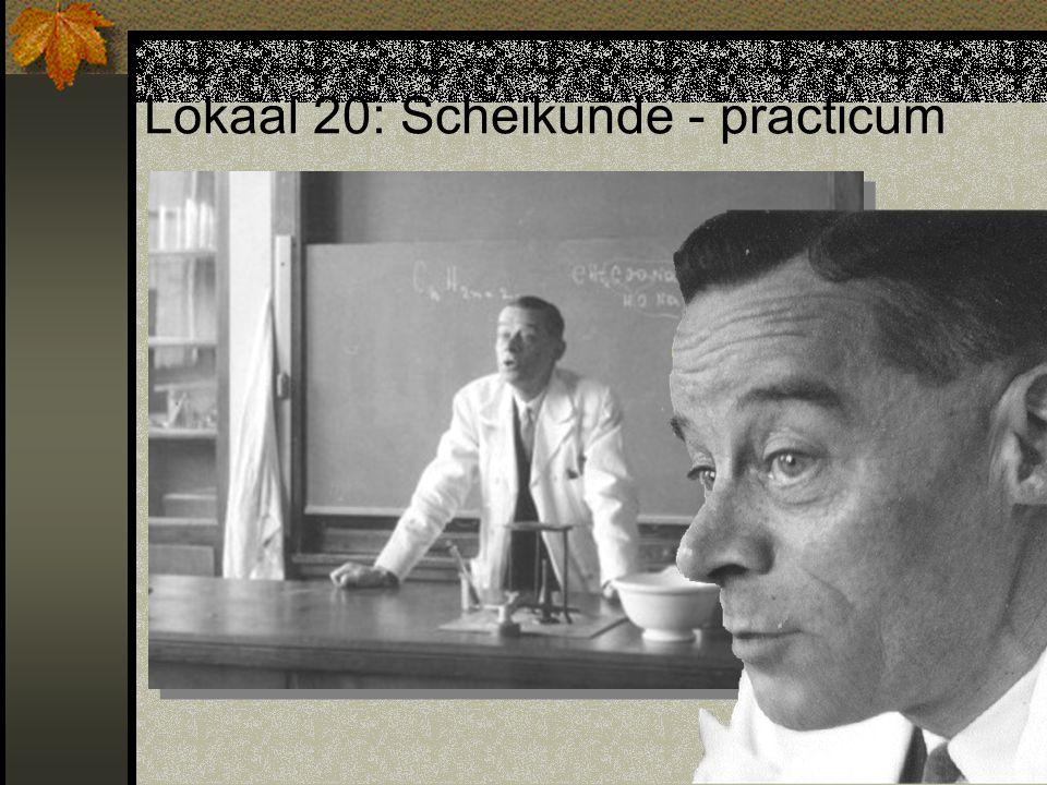 Lokaal 20: Scheikunde - practicum