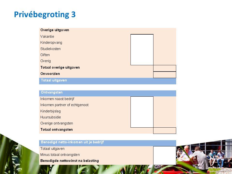 Privébegroting 3