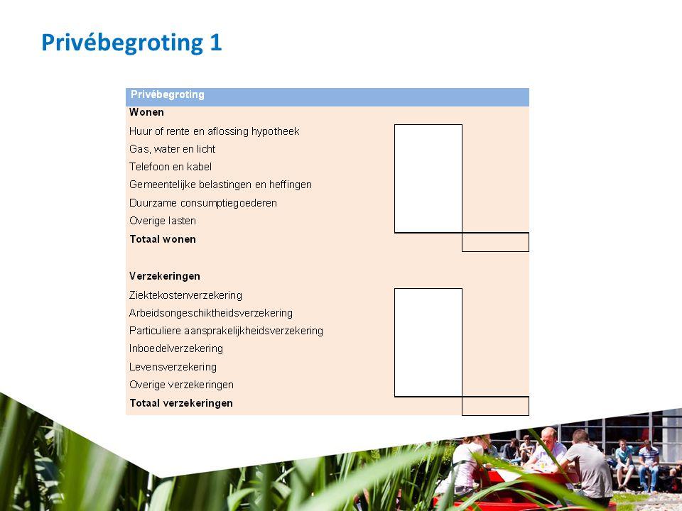 Privébegroting 1