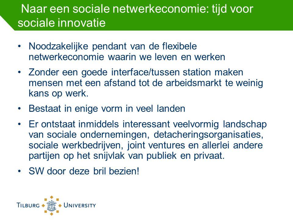 Naar een sociale netwerkeconomie: tijd voor sociale innovatie Noodzakelijke pendant van de flexibele netwerkeconomie waarin we leven en werken Zonder