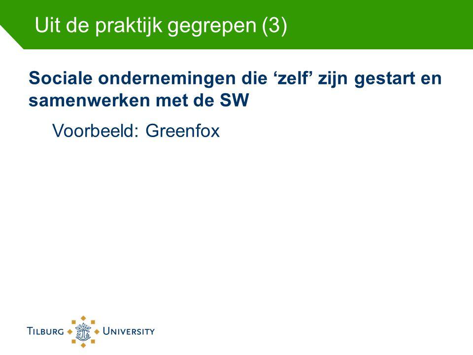 Uit de praktijk gegrepen (3) Sociale ondernemingen die 'zelf' zijn gestart en samenwerken met de SW Voorbeeld: Greenfox