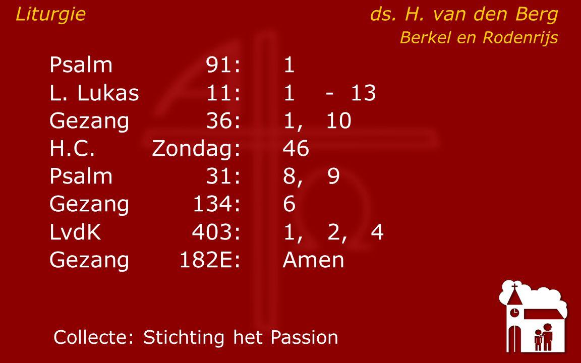 Diensten 9:30voorganger:.br. J. van den Dool, preeklezen 16:30 voorganger: ds.