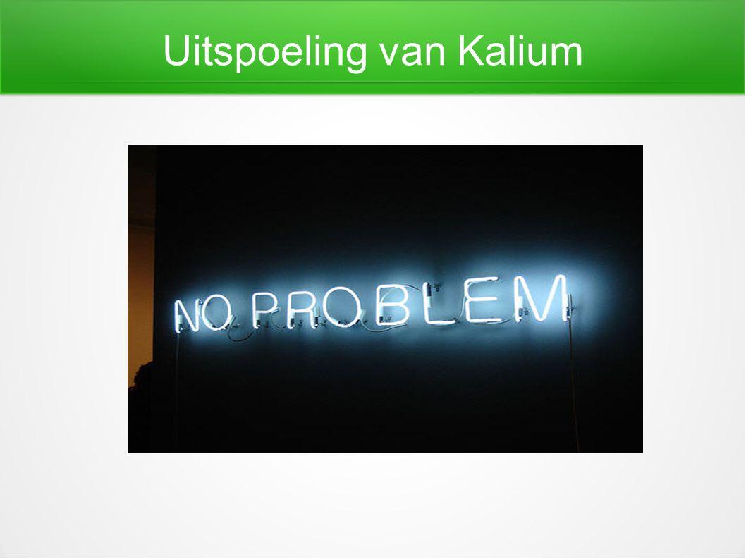 Uitspoeling van Kalium