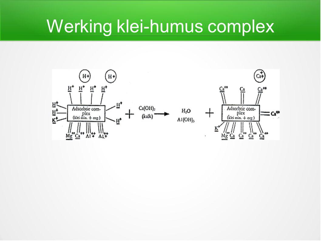 Werking klei-humus complex