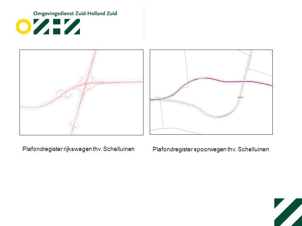 Plafondregister rijkswegen thv. Schelluinen Plafondregister spoorwegen thv. Schelluinen