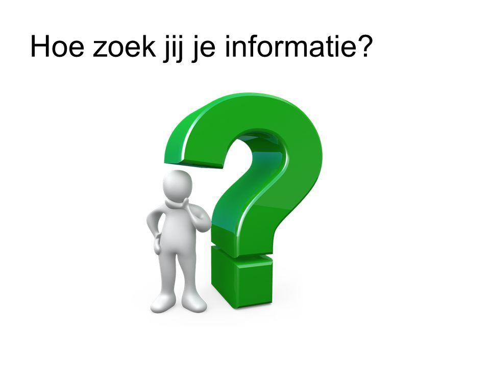 Hoe zoek jij je informatie