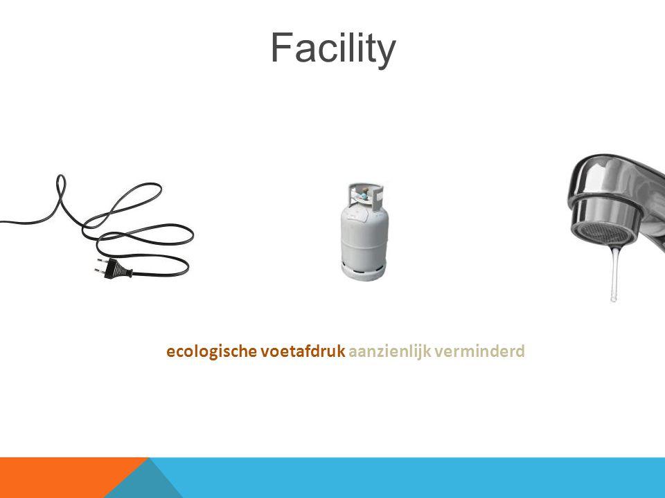 Facility ecologische voetafdruk aanzienlijk verminderd