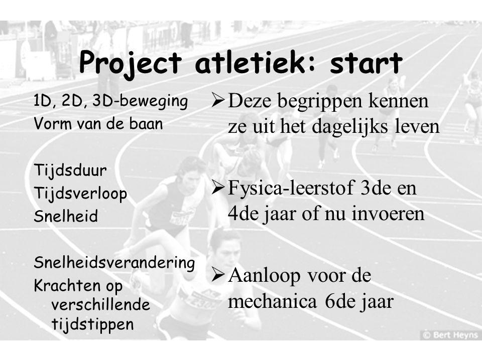 7 Hoogtesprong Hordenloop Sprint Polsstoksprong Verspringen Speerwerpen Kogelstoten … Project atletiek