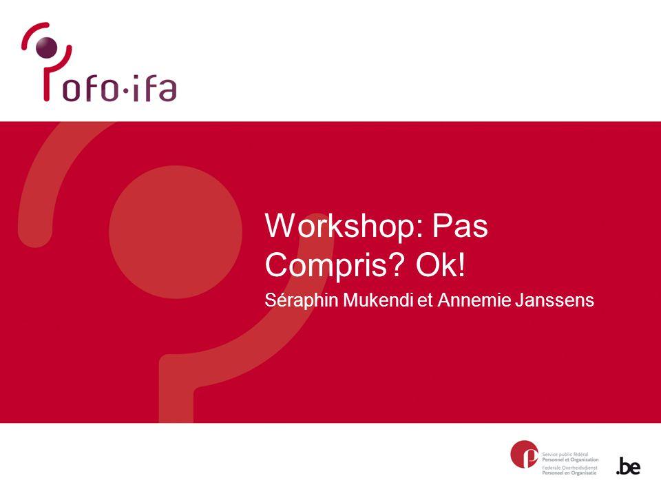 Workshop: Pas Compris Ok! Séraphin Mukendi et Annemie Janssens