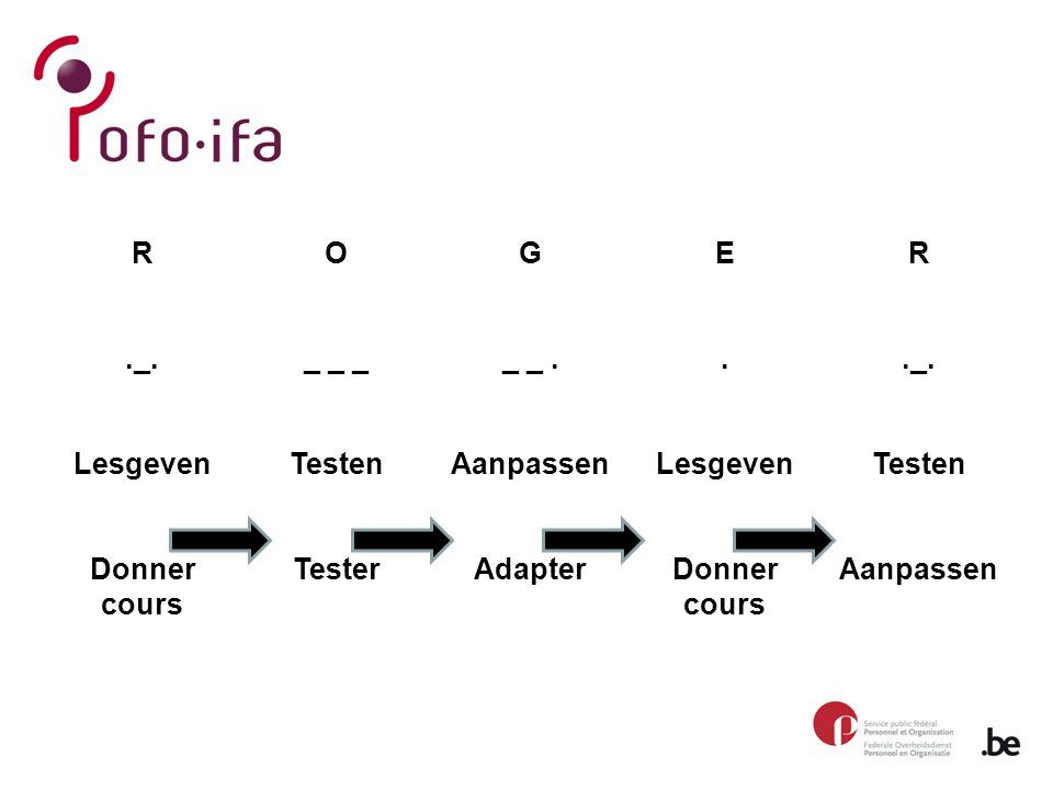 R._. Lesgeven Donner cours O _ _ _ Testen Tester G _ _.