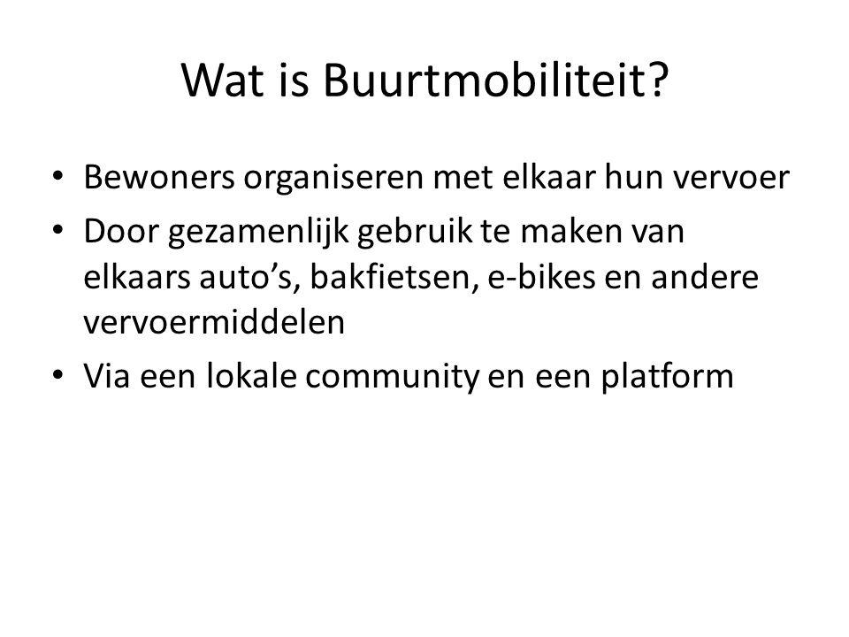 Wat is Buurtmobiliteit.