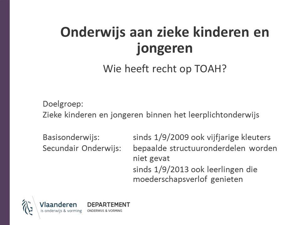 Onderwijs aan zieke kinderen en jongeren Wanneer recht op TOAH.