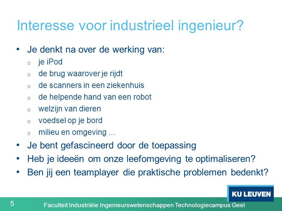 5 Interesse voor industrieel ingenieur.