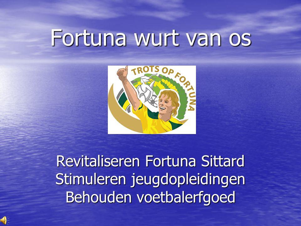 Fortuna wurt van os Revitaliseren Fortuna Sittard Stimuleren jeugdopleidingen Behouden voetbalerfgoed