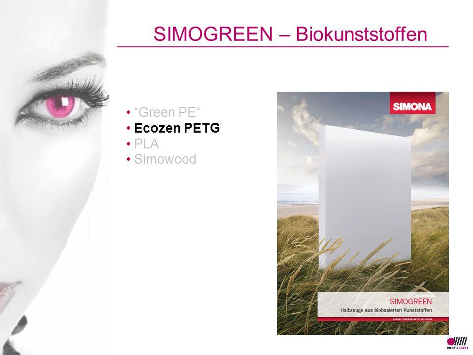 """Green PE"" Ecozen PETG PLA Simowood SIMOGREEN – Biokunststoffen"
