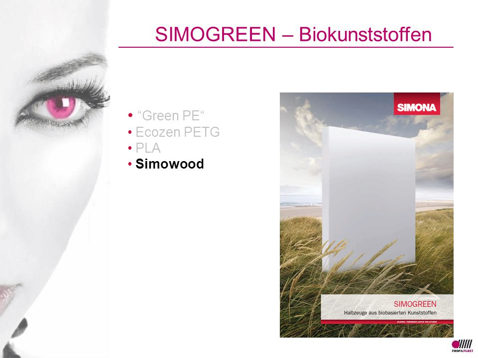Green PE Ecozen PETG PLA Simowood SIMOGREEN – Biokunststoffen