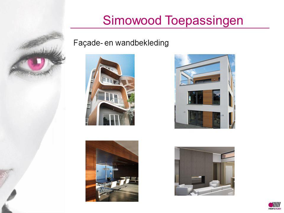 Simowood Toepassingen Façade- en wandbekleding