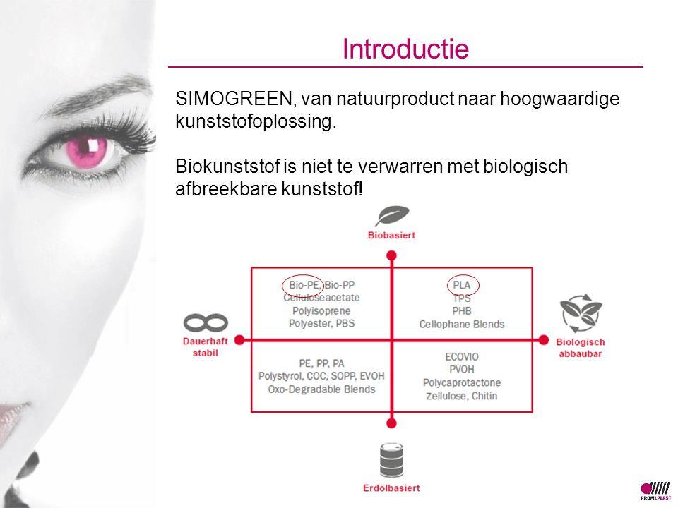 Introductie SIMOGREEN, van natuurproduct naar hoogwaardige kunststofoplossing. Biokunststof is niet te verwarren met biologisch afbreekbare kunststof!