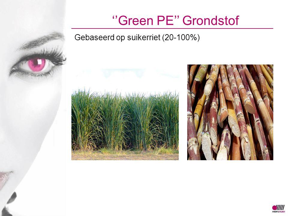 ''Green PE'' Grondstof Gebaseerd op suikerriet (20-100%)