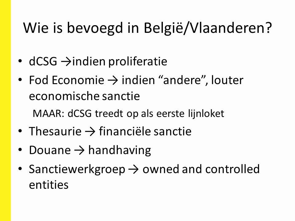 Wie is bevoegd in België/Vlaanderen.