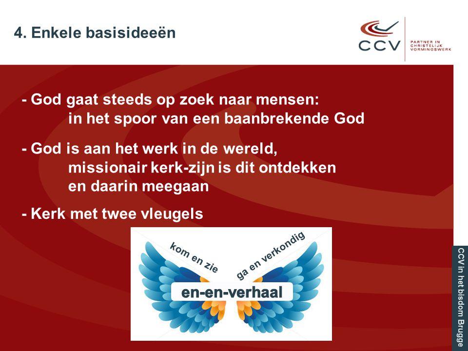 CCV in het bisdom Brugge 4. Enkele basisideeën - God gaat steeds op zoek naar mensen: in het spoor van een baanbrekende God - God is aan het werk in d
