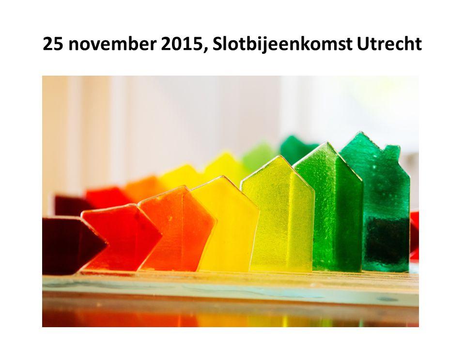 25 november 2015, Slotbijeenkomst Utrecht