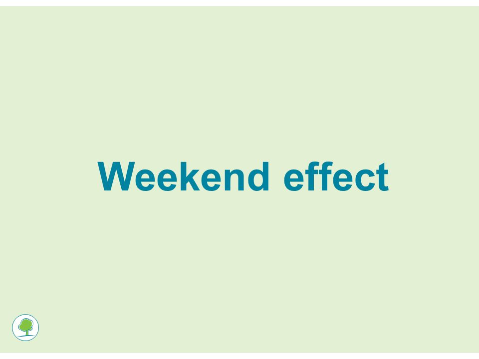 Weekend effect