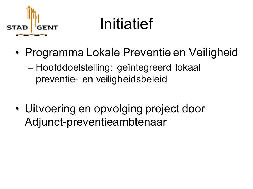 Initiatief Programma Lokale Preventie en Veiligheid –Hoofddoelstelling: geïntegreerd lokaal preventie- en veiligheidsbeleid Uitvoering en opvolging project door Adjunct-preventieambtenaar