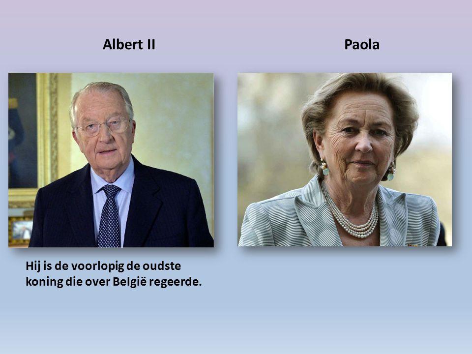 Albert IIPaola Hij is de voorlopig de oudste koning die over België regeerde.