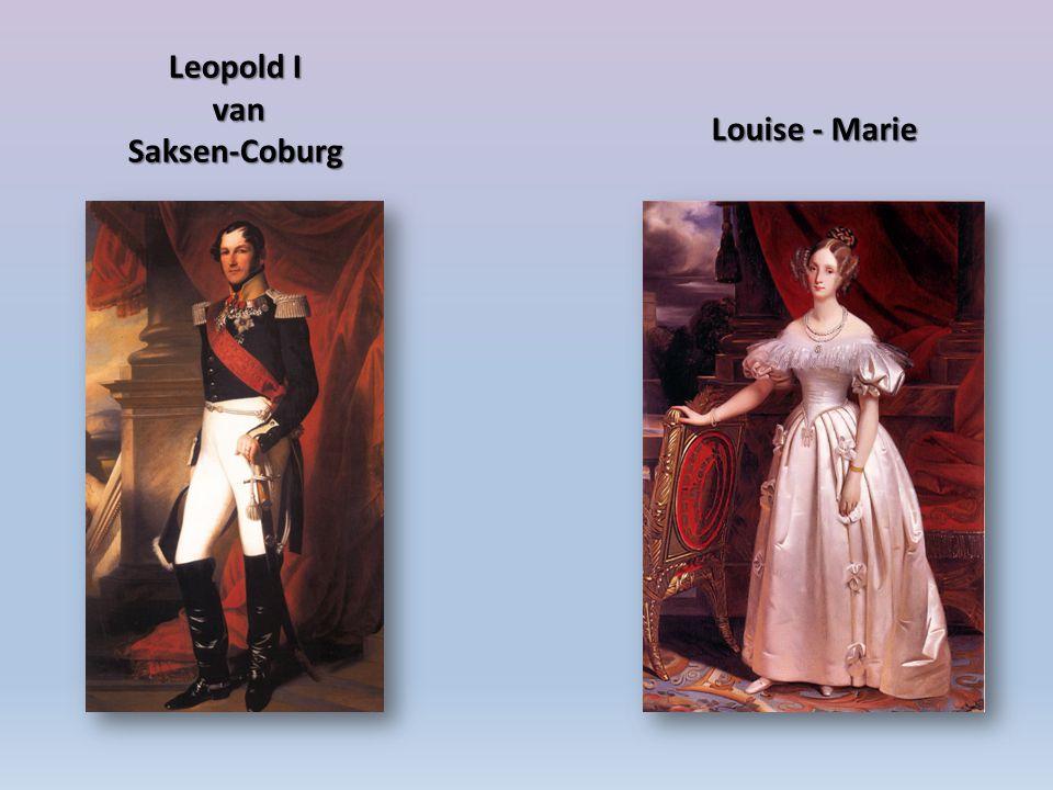 Leopold I van Saksen-Coburg Louise - Marie