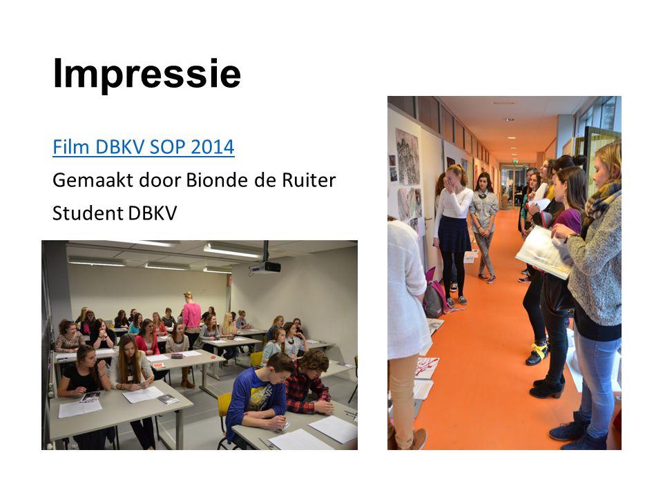 Impressie Film DBKV SOP 2014 Gemaakt door Bionde de Ruiter Student DBKV