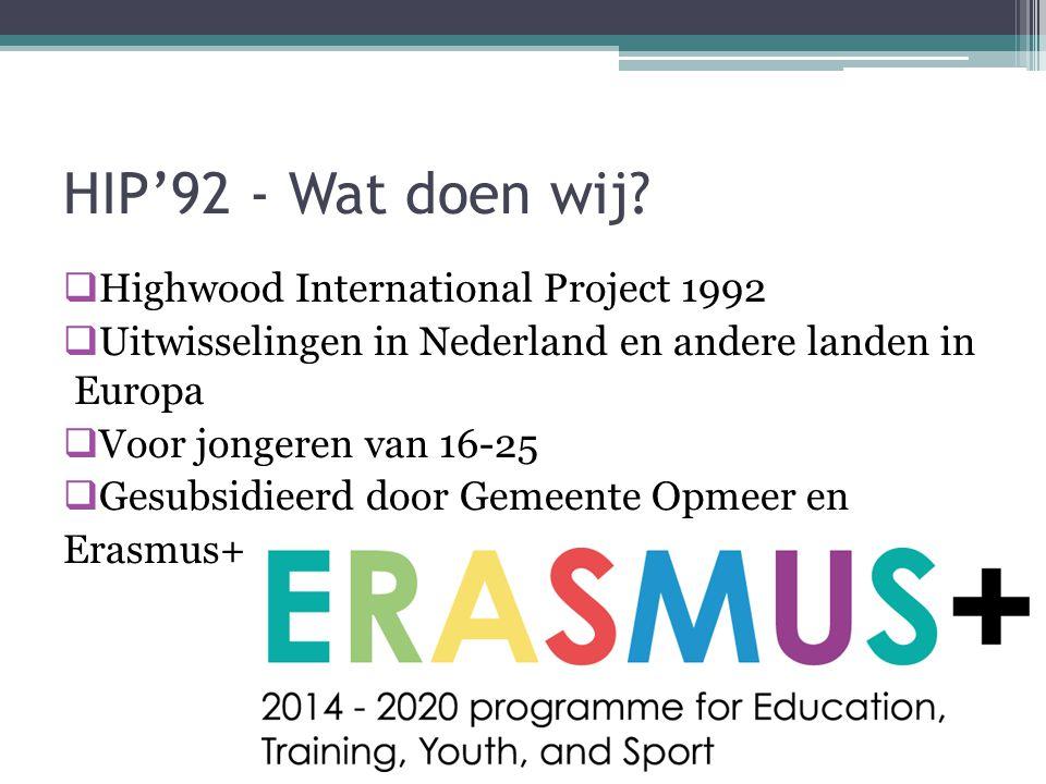 HIP'92 - Wat doen wij.