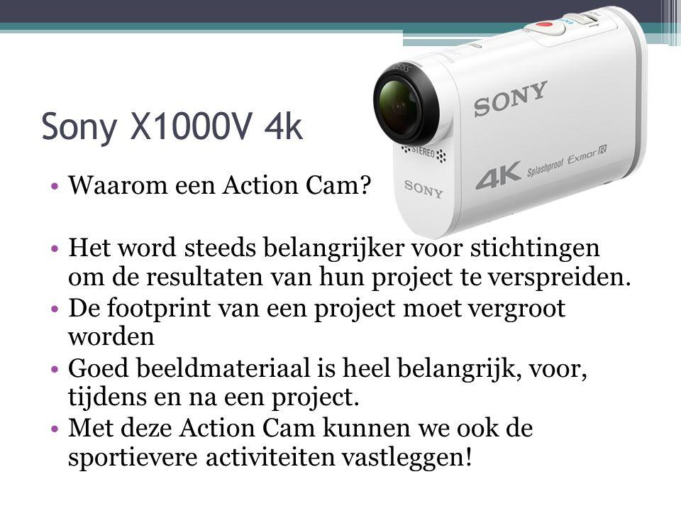 Sony X1000V 4k Waarom een Action Cam.