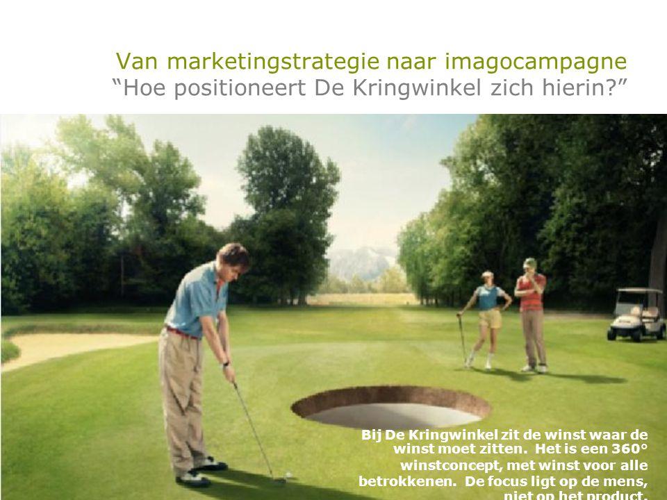 Van marketingstrategie naar imagocampagne Hoe positioneert De Kringwinkel zich hierin? Bij De Kringwinkel zit de winst waar de winst moet zitten.