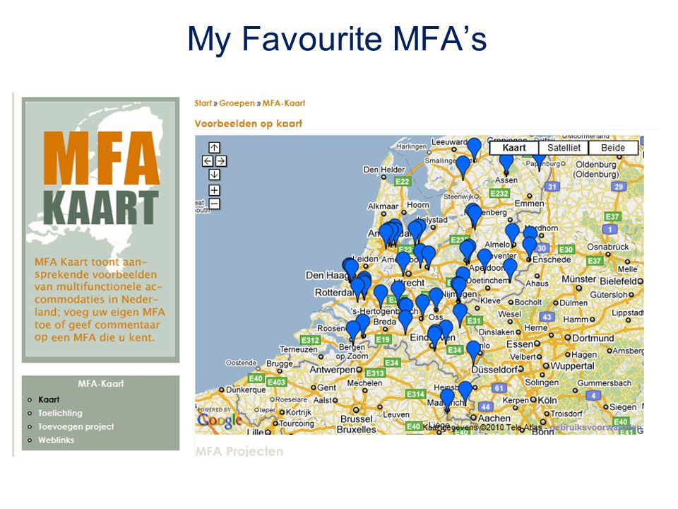 My Favourite MFA's
