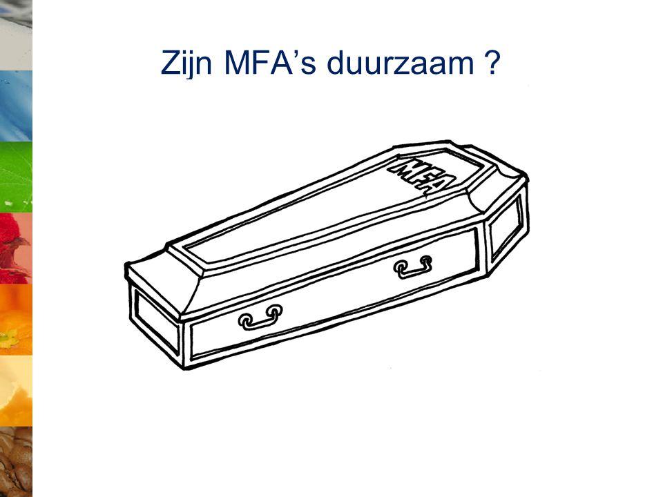 Zijn MFA's duurzaam ?