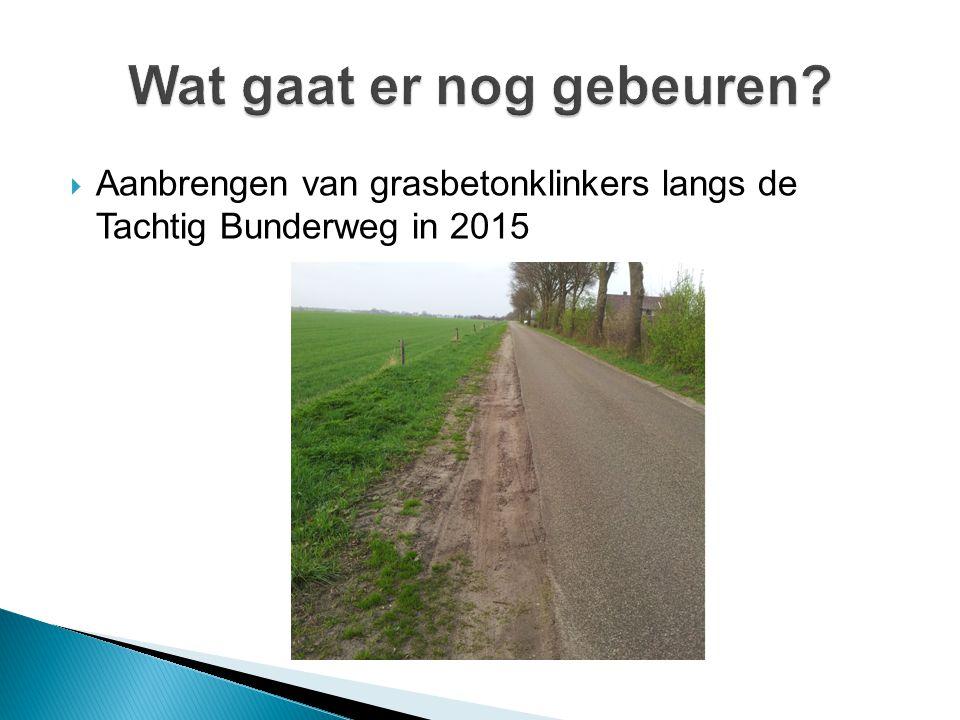  Aanbrengen van grasbetonklinkers langs de Tachtig Bunderweg in 2015