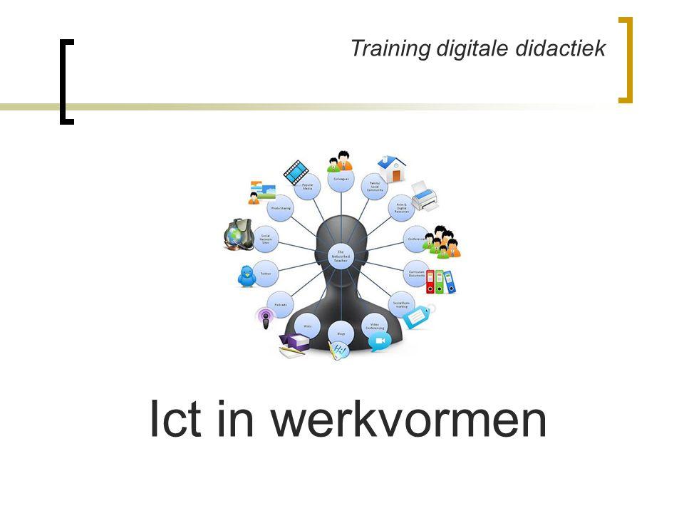 Training digitale didactiek Ict in werkvormen
