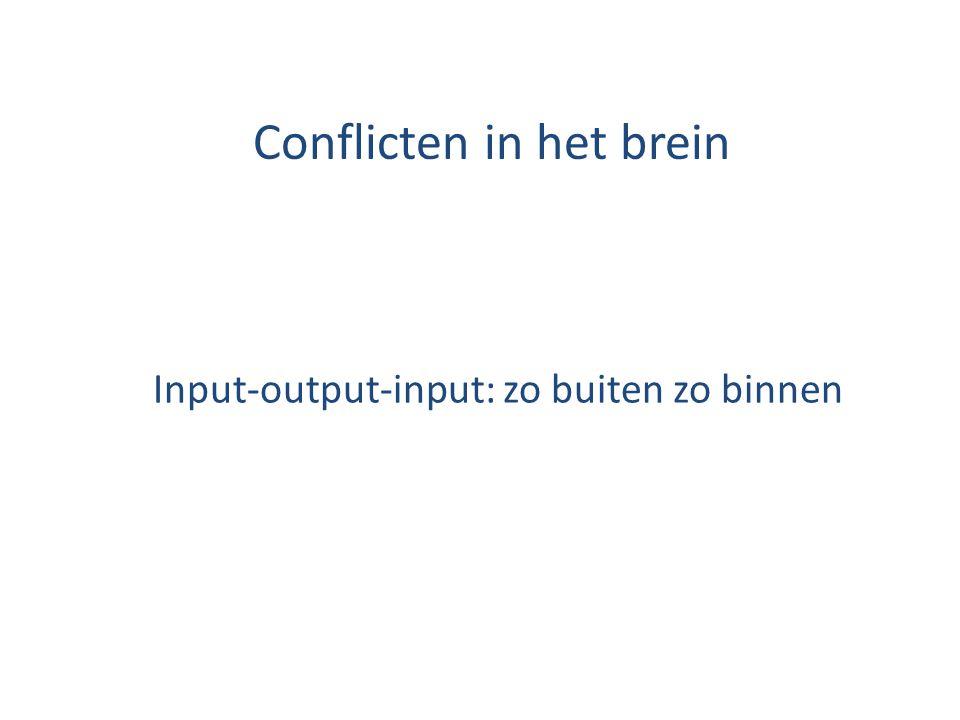 Conflicten in het brein Input-output-input: zo buiten zo binnen