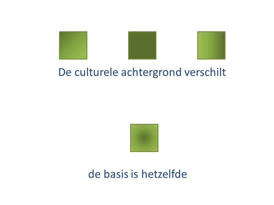De culturele achtergrond verschilt de basis is hetzelfde