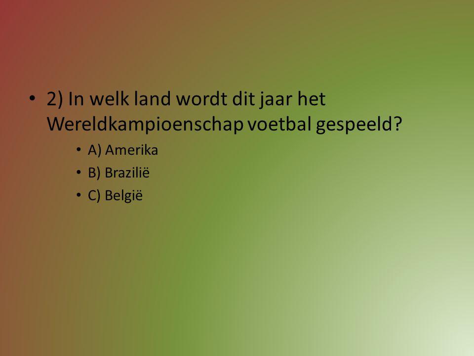 1) Wie werd dit jaar kampioen in de eerste klasse voetbal van België? A) Standard Luik B) Club Brugge C) Anderlecht