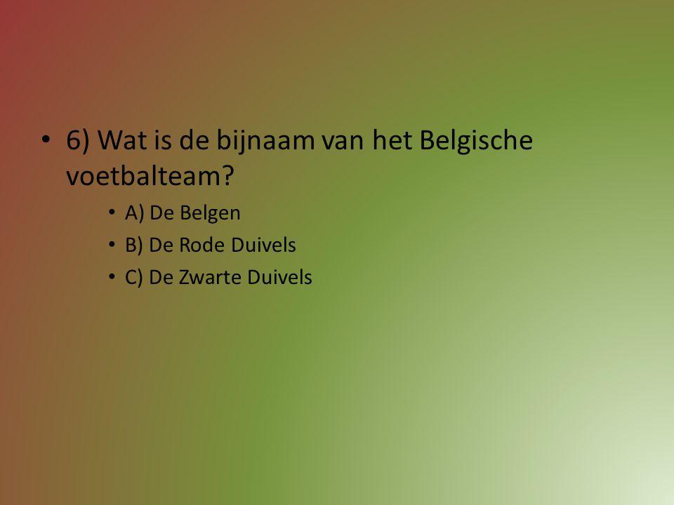 5) Welke speler van SV Zulte-Waregem won dit jaar de Gouden Schoen? A) Thorgan Hazard B) Davy De Fauw C) Sammy Bossut