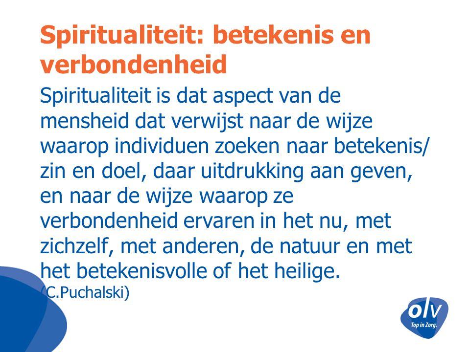 Spiritualiteit: betekenis en verbondenheid Spiritualiteit is dat aspect van de mensheid dat verwijst naar de wijze waarop individuen zoeken naar betek